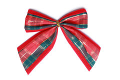 Christmas bow, isolated Royalty Free Stock Images