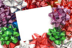 Christmas Bow Notecard Royalty Free Stock Image
