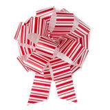 Christmas bow. Christmas pattern bow isolated ower white background Stock Photo