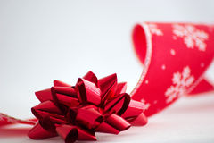 Christmas bow and ribbon Stock Photography
