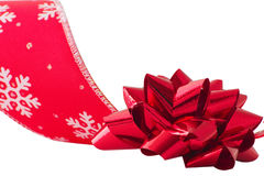 Christmas bow and ribbon Royalty Free Stock Image