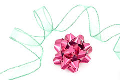Christmas Bow and Ribbon Stock Images