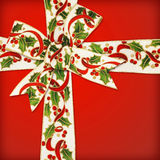 Christmas bow and ribbon Royalty Free Stock Photography