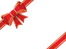Christmas bow and ribbons Stock Photo