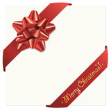 Christmas bow and ribbons Royalty Free Stock Images