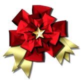 Christmas bow & ribbons Royalty Free Stock Photos