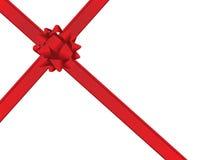 Christmas bow and ribbons Royalty Free Stock Photo