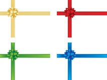 Christmas bow and ribbons royalty free illustration