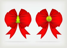 Christmas bow set. Royalty Free Stock Photos