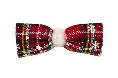 Christmas bow tie. Design element for christmas and new year. Is. Olated on white royalty free stock photo