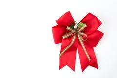 Christmas bow. On white background stock photo