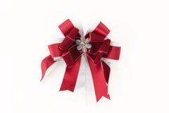 Christmas bow. On white background Stock Photos