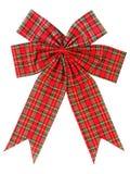 Christmas bow on white Royalty Free Stock Image