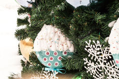 Christmas  bowl decorations Royalty Free Stock Photography