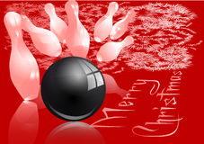 Christmas bowling strike Royalty Free Stock Photography