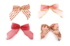 Christmas bows Stock Photo