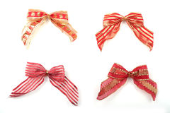 Christmas bows Stock Images