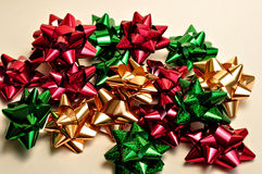 Christmas bows Royalty Free Stock Images