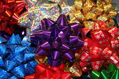 Christmas Bows. Lots of Christmas bows Royalty Free Stock Images