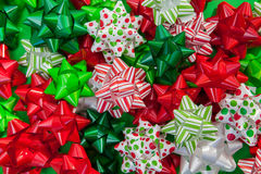Christmas Bows Background Royalty Free Stock Photography