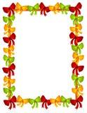 Christmas Bows Ribbons Frame Royalty Free Stock Images