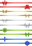 10 Christmas Bows Set. Set of 10 vector Christmas bows in red, gold, silver, green and blue Stock Images