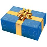 Christmas Box 07. High detailed vector illustration Stock Images