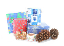 Christmas box Stock Photos