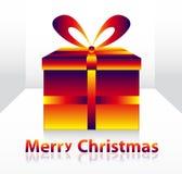 Christmas box. Colorful vector christmas 3d box Stock Photos