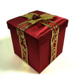 Christmas Box. A nicely packaged box ready for Christmas Royalty Free Stock Photo