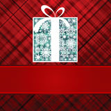 Christmas box card. EPS 8 Stock Photography