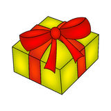 Christmas box, gift icon, symbol, design. vector illustration isolated  Stock Photography