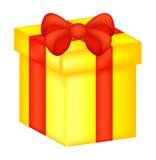 Christmas box, gift icon, symbol, design. vector illustration isolated on white background. Stock Photo
