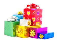 Christmas box gifts Stock Image