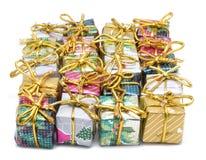 Christmas box gifts. Isolated on white background stock image