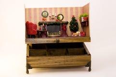 Christmas box, miniature stock photo