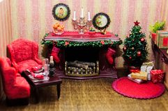 Christmas box, miniature stock images