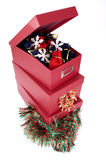Christmas boxes Stock Photos