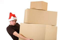 Christmas boxes Royalty Free Stock Photos