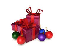 Christmas boxes Royalty Free Stock Images