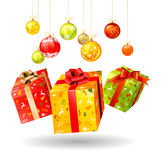 Christmas boxes stock illustration
