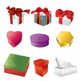 Christmas boxes Stock Photography