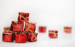 Christmas boxes Royalty Free Stock Image