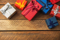 Christmas boxes background Royalty Free Stock Image