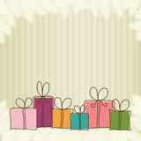 Christmas boxes Stock Image