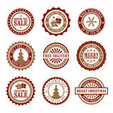 Christmas & Boxing Day Retail Badges Royalty Free Stock Images
