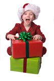 Christmas boy stock photography