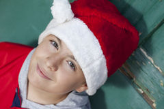 Christmas boy Stock Photos