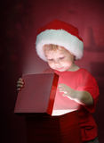 Christmas boy Stock Photos