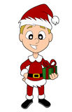 Christmas boy cartoon Stock Images